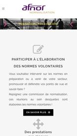 Site web responsive pour afnor
