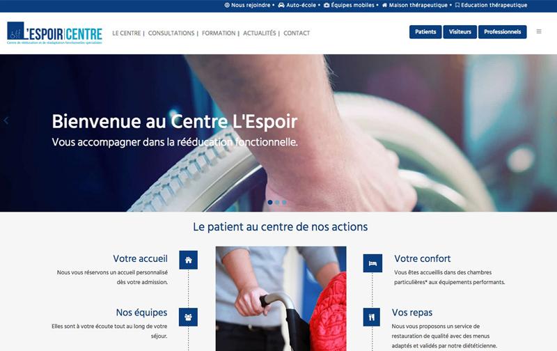 Site web l'espoir Centre