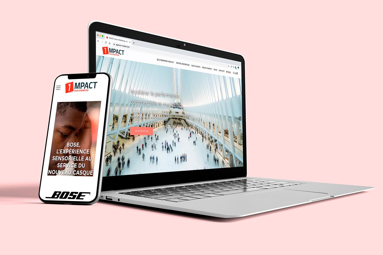 Site web IMPACT Sales & marketing