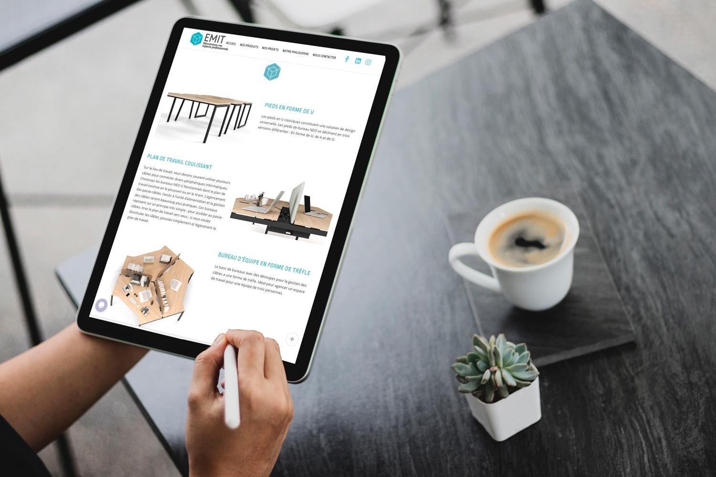 site web EMIT Mobilier